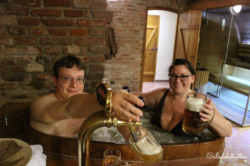 Our First BEER SPA Experience! - Karlovy Vary, Czech Republic - California Globetrotter